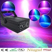 LED Laser Stage Lighting 3 Lens Wave Effect RGB Mini Laser Projector Show For DJ Disco