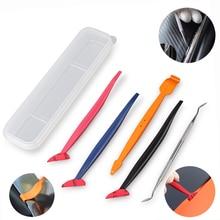 FOSHIO herramientas magnéticas para envolver el coche, 5 uds., escurridor de esquina, raspador, junta, microtinte de Ventanilla, juego de imanes