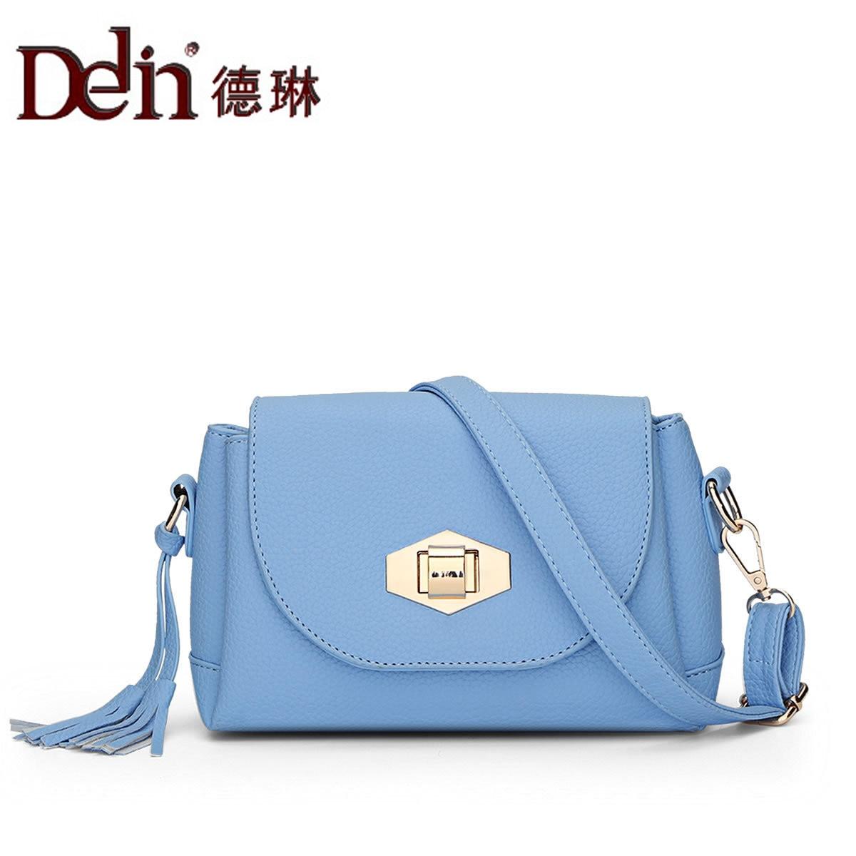 DELIN The new spring 2017 han edition fashion handbag hand shoulder slope of bag