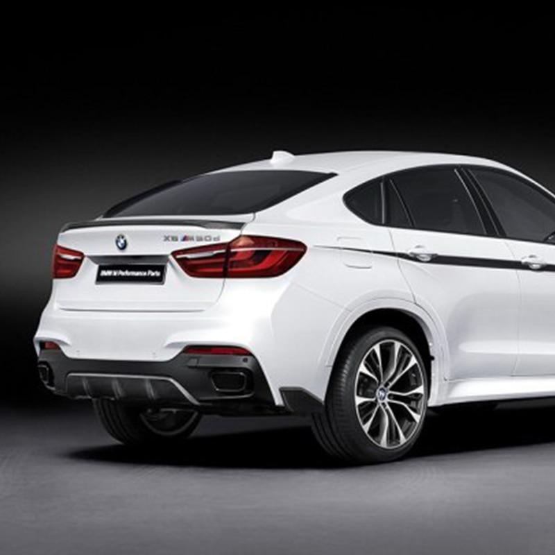BMW X6 F16 2014 2015 2016 üçün F16 X6 Modifikasiya edilmiş M-Perform stil Fiberglass Primer Arxa Çanta Bölmə Spoyler Avtomobil Qanadı