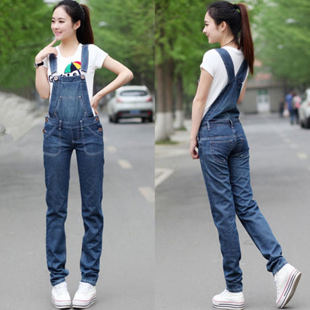 0aa4dd4887d Free Shipping Low Waist Jeans Fashion Straight Pants Women High Quality Overalls  Summer Jumpsuit And Rompers Denim Trousers XXL