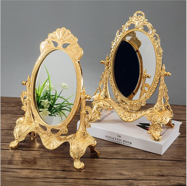 Europe 360 rotating sliver gold color Desktop mirror Vanity mirror Wedding home decorative mirrors large gold