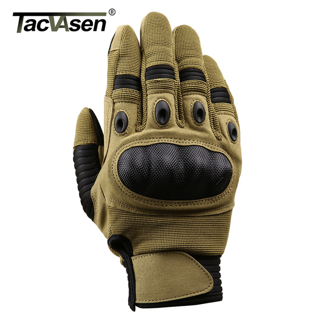 TACVASEN Military Tactical Gloves Men Airsoft Army Combat Gloves Hard Knuckle Full Finger Motorcycle Hunt Gloves Touch Screen 2