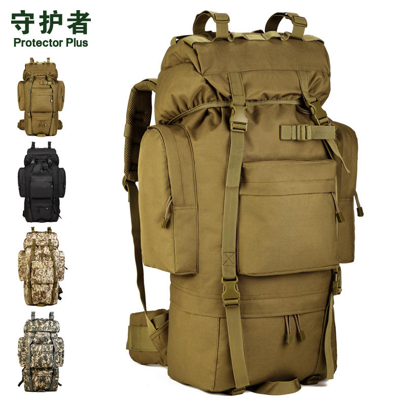 Protector Plus S422 Outdoor Sports Bag 65L Camouflage Nylon Tactical Military Trekking Pack Hiking Cycling Backpack 65l outdoor sports multifunctional heavy duty backpack military hiking