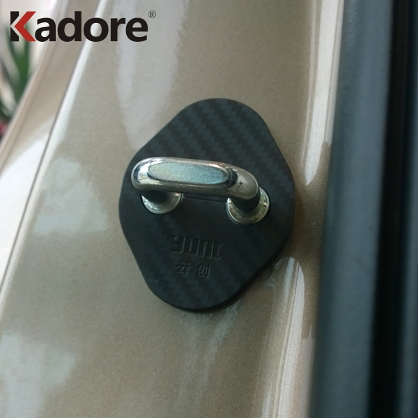 For Kia Rio 2011 2012 2013 2014 2015 2016 2017 2018 2019 Car Accessories Plastic Door Lock Buckle Cover Cap Sticker Car-Styling