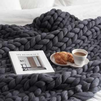 Mylb Heiße Gestrickte Decke Erwachsenen Plüsch Sofa Sherpa Decke Gewichteten Decke Kinder Tragbare Auto Reise Deckt Pelz Wurf Decken