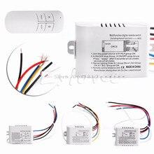 Беспроводной 1/2/3/канальный переключатель включения/выключения лампы дистанционного управления приемник передатчик Прямая поставка
