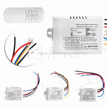 Wireless 1/2/3/ Channel ON/OFF Lamp Remote Control Switch Receiver Transmitter  Drop Shipping