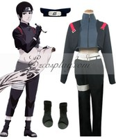 Naruto Shadows Anbu Sai Cosplay Costume Set E001