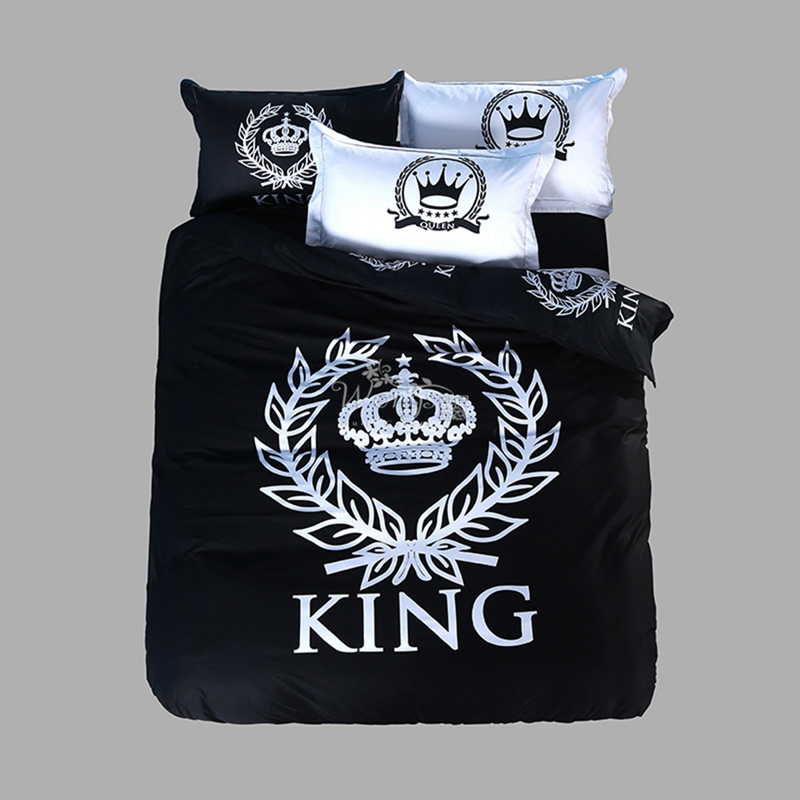 Hot Sale 100% cotton Black And White Home Textiles Plain Printed Comforters Cheap Soft Bedding Sets Twin Queen King SizeHot Sale 100% cotton Black And White Home Textiles Plain Printed Comforters Cheap Soft Bedding Sets Twin Queen King Size