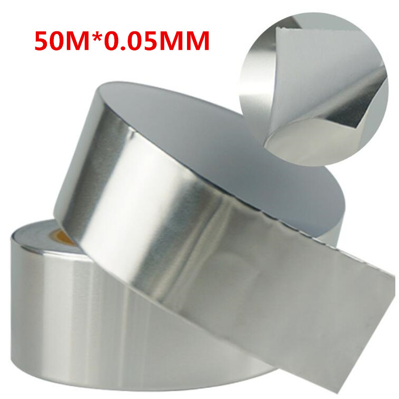 Single layer conductive high temperature aluminum foil tape waterproof shield Tape BGA insulation 50M *0.05mm