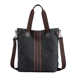 Image 3 - Nieuwe Eenvoudige Grote Capaciteit Ontwerp Canvas Vrouwen Messenger Bag Mode Meisjes Handtas Schoudertas Dagelijkse Boodschappentas
