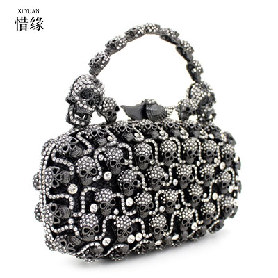 XIYUAN BRAND Female Crystal Clutch Bags Fashion Design Women Beaded Party Handbags Shine Rhinestone Diamond Wedding Day Clutches