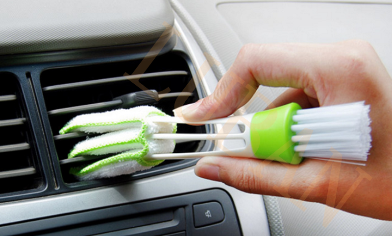 16.5*4cm Pocket Brush Keyboard Dust Collector Air-condition Cleaner Window Leaves Blinds Cleaner Duster Computer Clean Tool