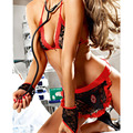 2016 New Lace Women Role-Playing Games Sexy Lingerie Nurse Costume Erotic Clothing Set Uniformes Hospital Underwear Babydolls