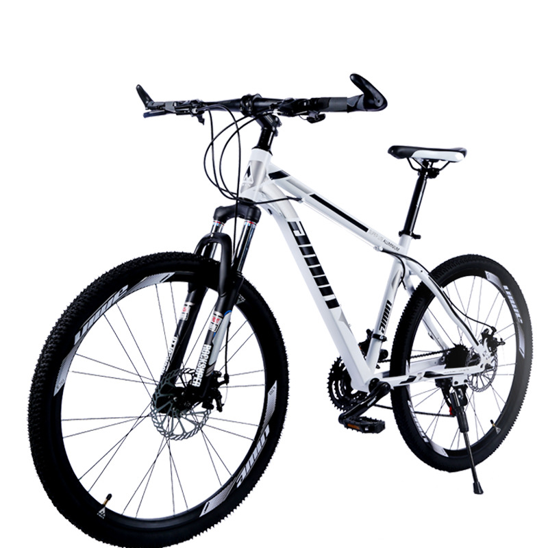 White Whirlwind Mountain Bike 27 Speed Double Disc Brake Damping Speed Mountain Bike One-Wheel Bicycle