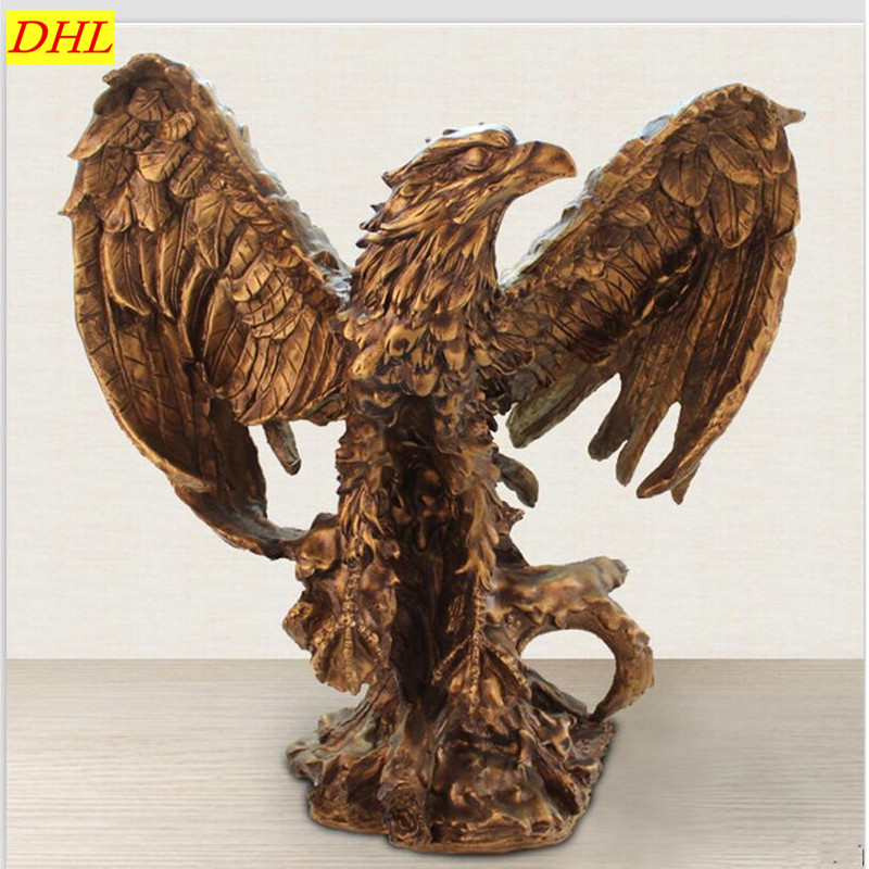 Resin Crafts European NEW Tuba Antique Copper Eagle Home Living Room High Range Decorations Creative Commerce Opening Gifts S518