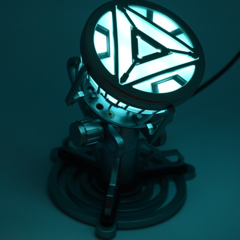 Toys Legend 1:1 Scale Iron Man Arc Reactor with LED Light Iron Man 3 PVC Action Figure Toy Free Shipping wind solar hybrid system dc ac off grid 12v 220v pure sine wave 1500w inverter
