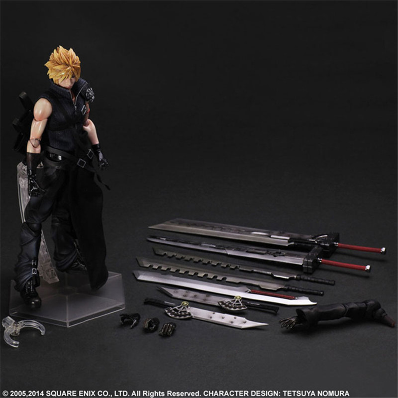 PLAY ARTS 27cm Final Fantasy VII Cloud Strife PVC Action Figure Collection Model Toys For GiftPLAY ARTS 27cm Final Fantasy VII Cloud Strife PVC Action Figure Collection Model Toys For Gift