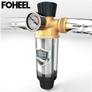 FOHEEL WATER-FILTER-SYSTEM Prefiltro 40micron Antioxidant-Material Mesh Central Stainless-Steel