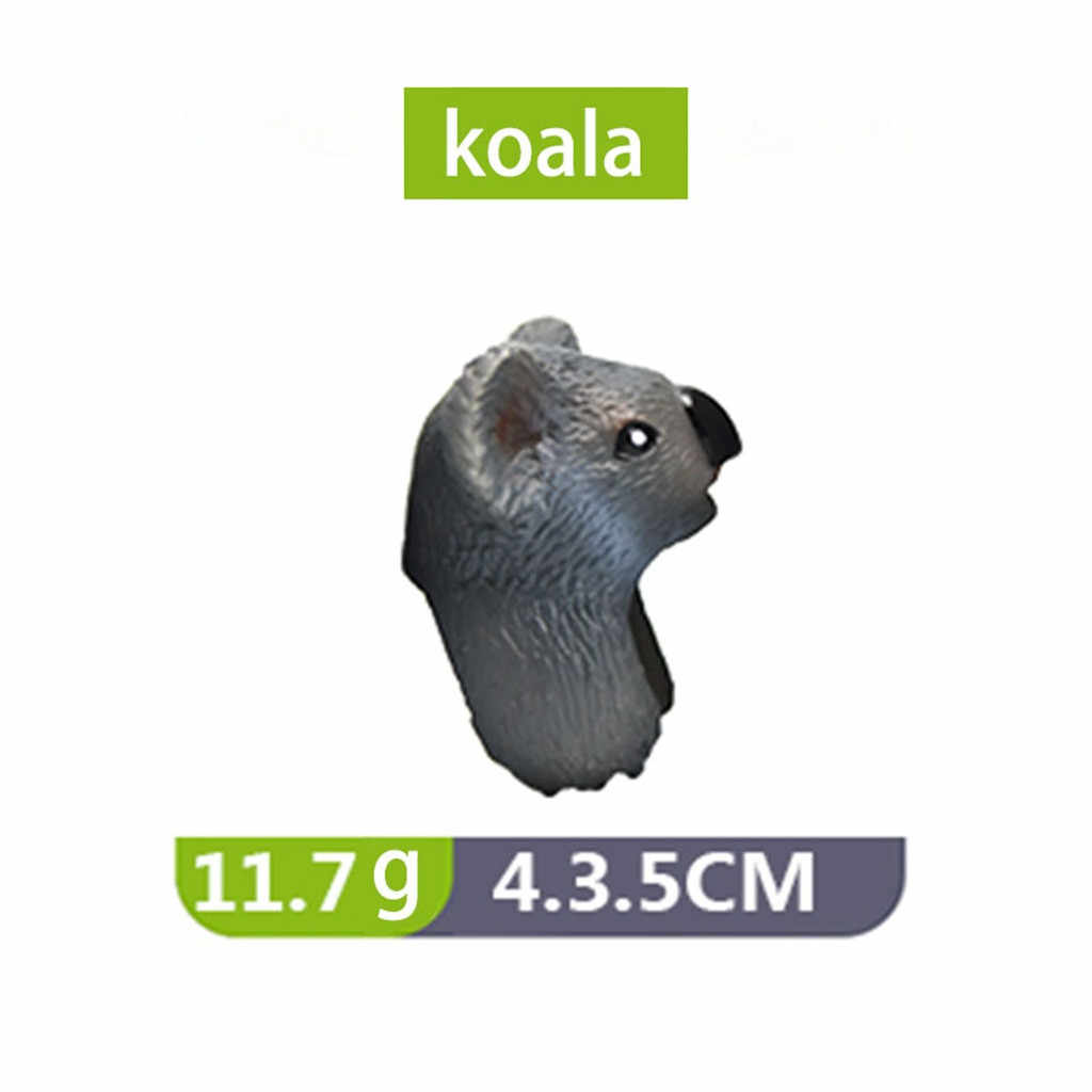 10PC Criativo 3D Animal Design de Abertura do Anel de Dedo Da Forma Do Vintage Veados zebra Urso Panda Leão Hipopótamo Brinquedos das Crianças 2019