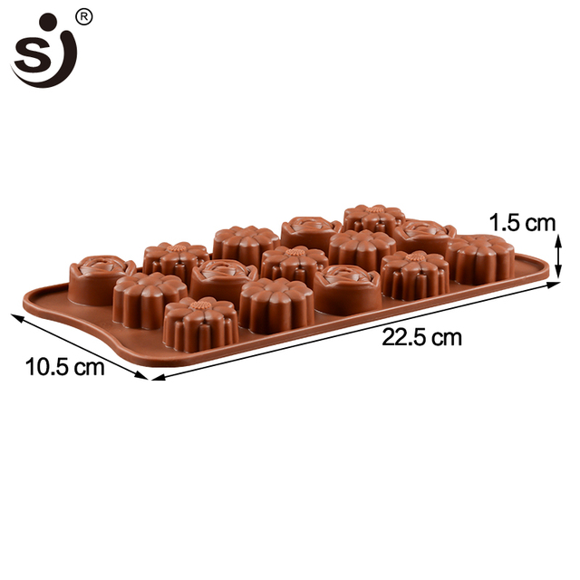 New Silicone Chocolate Mold 24Shapes Chocolate Baking Tools Non-stick Cake Mold Jelly&Candy Mold 3D Mold Decoration DIY Hot Sale 3