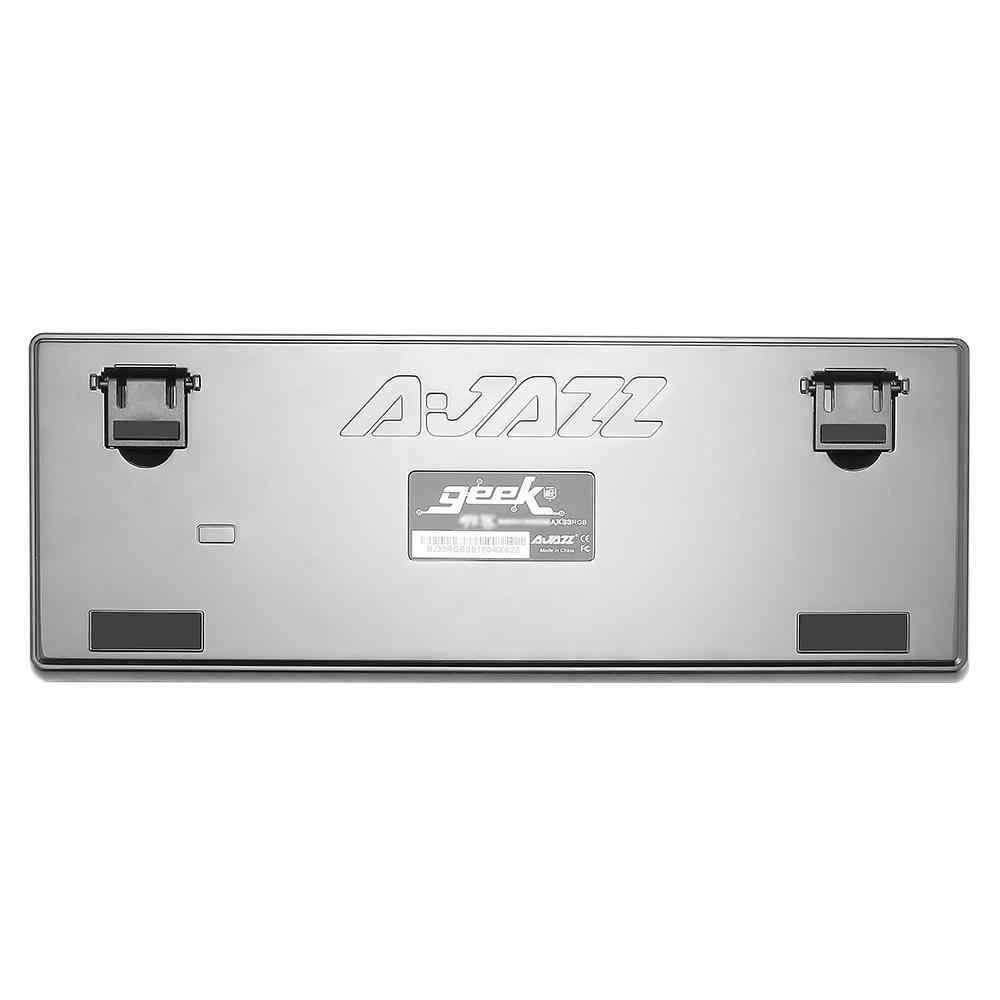 Ajazz AK33 82-key لوحة مفاتيح الألعاب السلكية الميكانيكية لوحة المفاتيح الروسية/الإنجليزية تخطيط الأزرق/الأسود التبديل RGB الخلفية خالية من الصراع