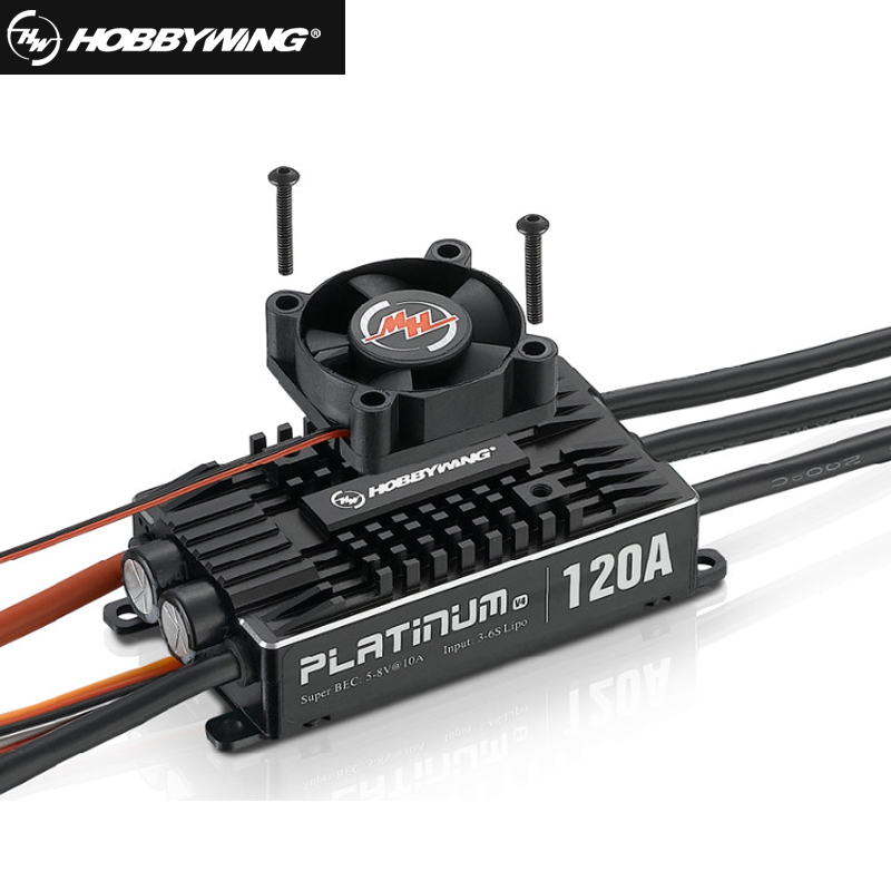 1pcs Original Hobbywing Platinum Pro V4 120A 3-6S Lipo BEC Empty Mold Brushless ESC for RC Drone Aircraft Helicopter+retail box original vgod pro drip rda for vgod pro mech mod pro 150 box bottom airflow delrin drip tip huge vapor 24mm large build deck