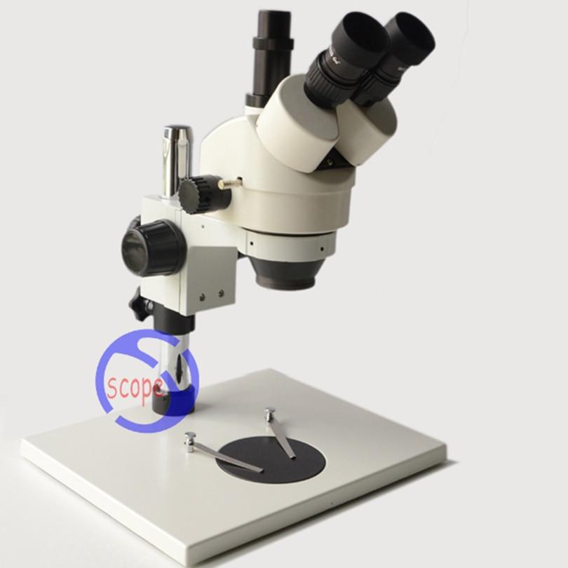 FYSCOPE mikroskopas 3.5X-90X Trinokulinio tikrinimo mikroskopas su - Matavimo prietaisai - Nuotrauka 2