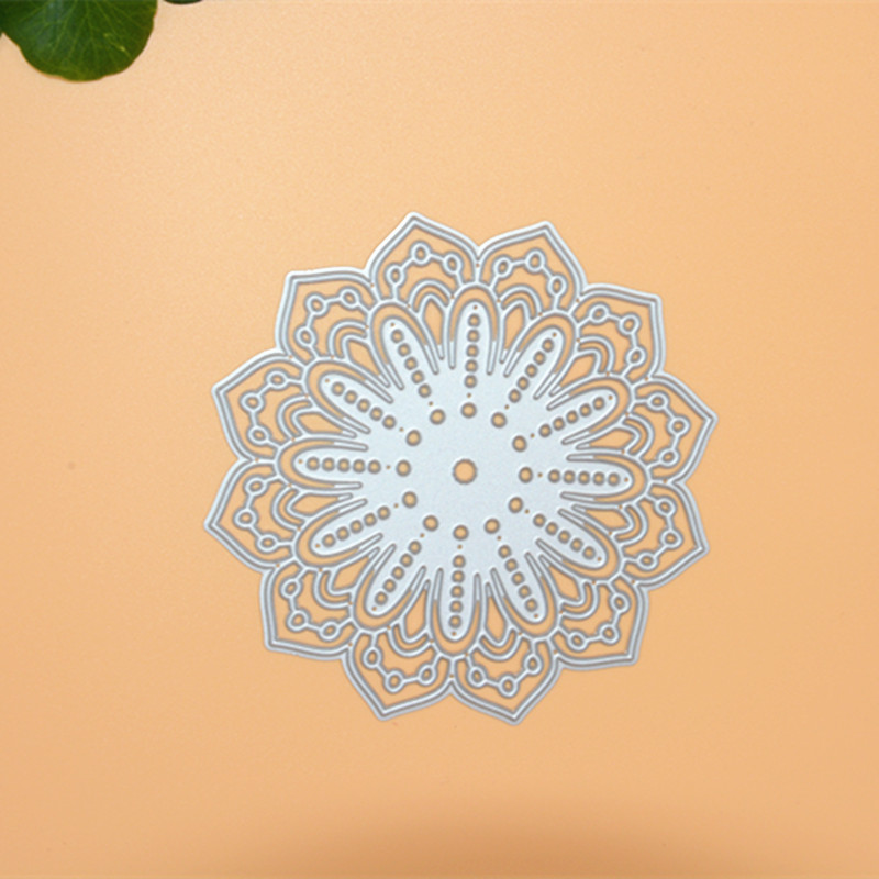 Flower bottom Metal Die Cutting Scrapbooking Embossing Dies Cut Stencils Decorative Cards DIY album Card Paper Card Maker snowflake hollow box metal die cutting scrapbooking embossing dies cut stencils decorative cards diy album card paper card maker