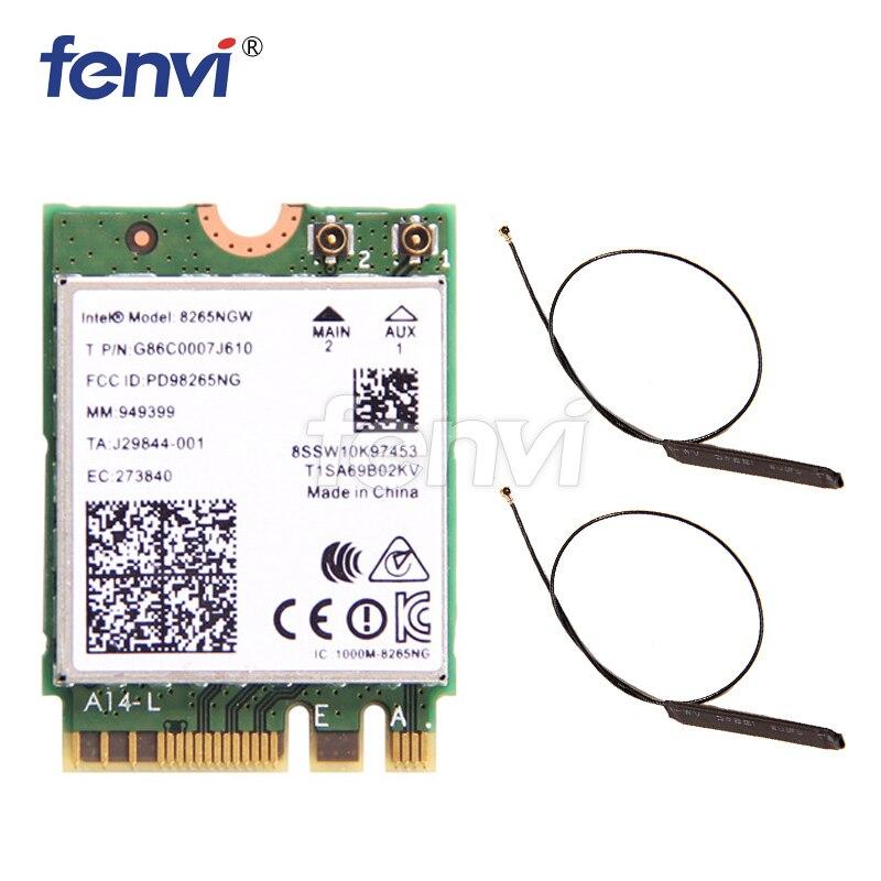 Nouveau 8265NGW AC double bande Intel sans fil-AC 8265 NGFF 867 Mbps WIFI MU-MIMO 802.11ac wi-fi + Bluetooth 4.2 carte pour Windows 7/8/10Nouveau 8265NGW AC double bande Intel sans fil-AC 8265 NGFF 867 Mbps WIFI MU-MIMO 802.11ac wi-fi + Bluetooth 4.2 carte pour Windows 7/8/10
