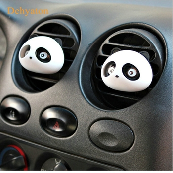 Car Styling Air Conditioning Vent Air Freshener Car Outlet Perfume Cute Panda Eyes Will Jump 5 Colors Auto Interior Decoration image