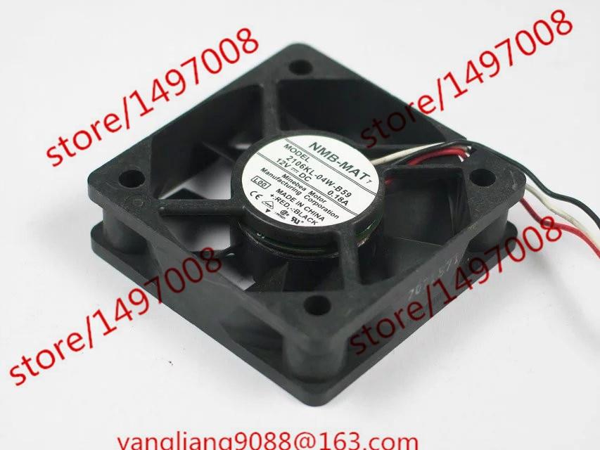 Free Shipping For  NMB 2106KL-04W-B59, L00 DC 12V 0.18A 3-wire 3-pin connector 100mm 50x50x15mm Server Square Cooling Fan free shipping for delta afc0612db 9j10r dc 12v 0 45a 60x60x15mm 60mm 3 wire 3 pin connector server square fan