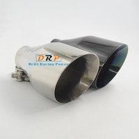 Melhor Qualidade cauda silenciador silenciador De escape Em Aço Inoxidável 304 dicas de prata e preto com boca grande adequado para o Carro Universal