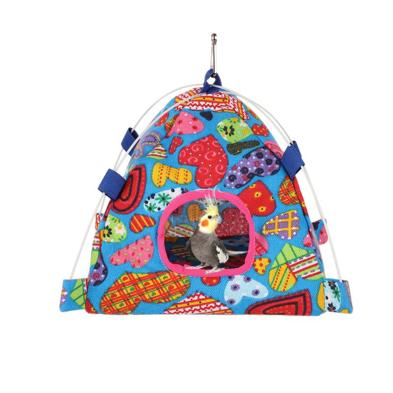 Pet Bird Hamster Tent Cage Guinea Pig Rabbit Chinchilla Cute Pattern House For Small Animals Parrot Cage Decor Accessories