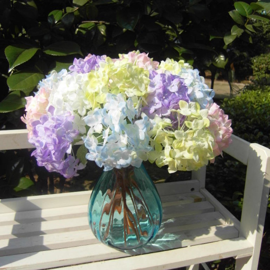 Realistic Light Purple Mini Hydrangea Artificial Fake