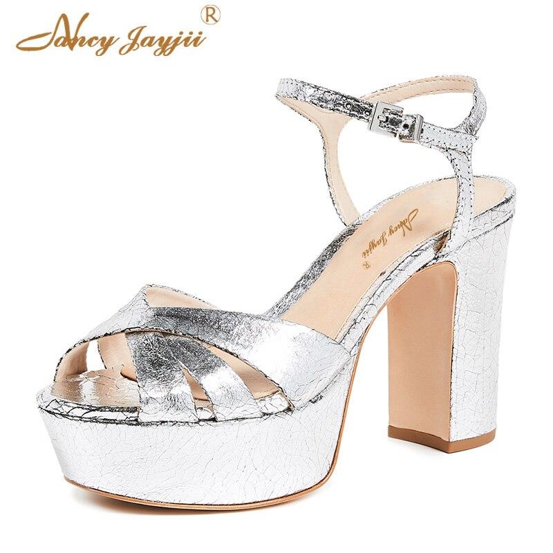 Freizeit Dünne Süße Super Frauen Leder Solide wrap Fersen Schuhe Sandalen Ty01 Ankle Mode Patent Damen Plattform Hohe 2019 Slivery 7xv6qZ7Cw