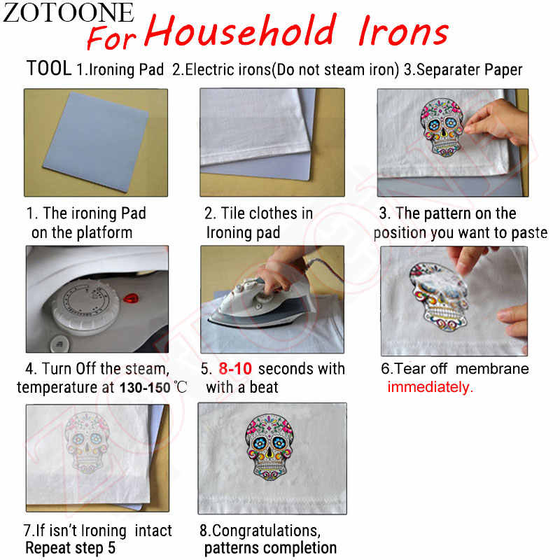 Zotoone Berwarna Hewan Patch Iron-On Transfer DIY Dekorasi Bordiran Yang Tingkat Dicuci Mudah Cetak Oleh Rumah Tangga Besi patch E