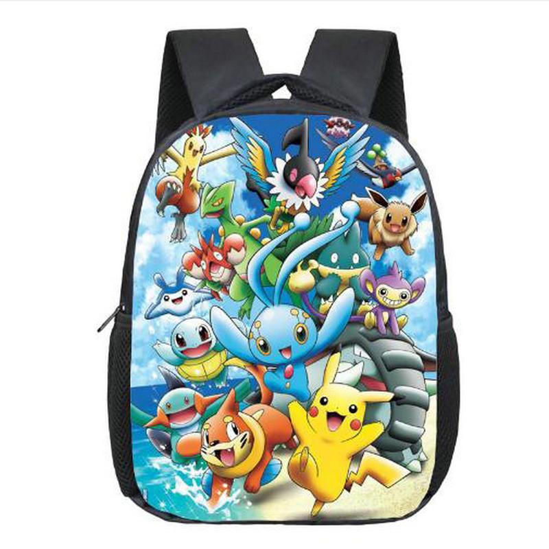 Anime Pokemon Backpack Pocket Monster School Bag Ash Ketchum/Pikachu School Backpacks Girls Boys Toddler Bag Kids Book Bags  japan pokemon harajuku cartoon backpack pocket monsters pikachu 3d yellow cosplay schoolbags mochila school book bag with ears