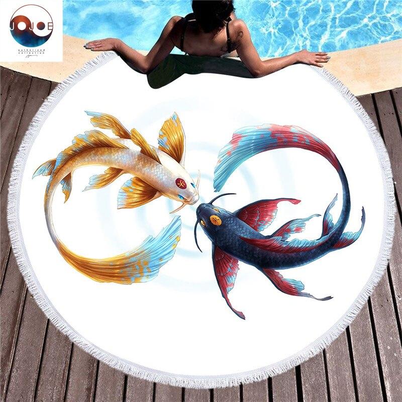 Diseñador Jojoes autorizado modelo Animal colección ronda Toalla de Playa Multicolor Strandlaken suave y cómodo Toalla Playa