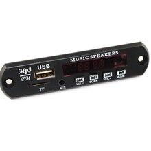 MP3 Decodificador Bordo DC 5 v 12 v Fonte De Alimentação USB TF Rádio FM Módulo de Áudio AUX Controle Remoto para carro de Controle Remoto Música Speaker