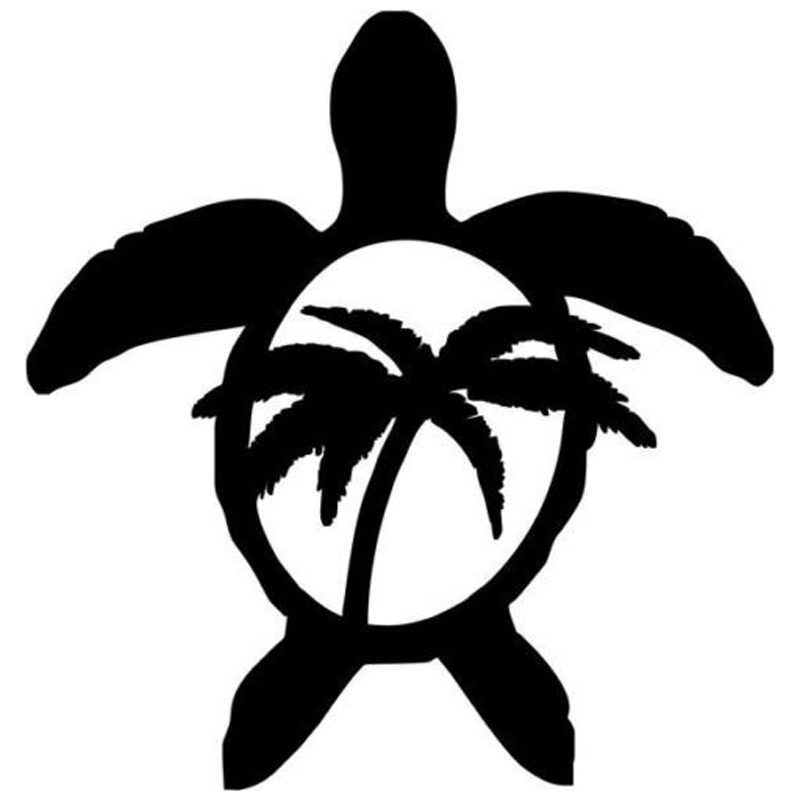 136cm142cm sea turtle palm tree hawaii cartoon car