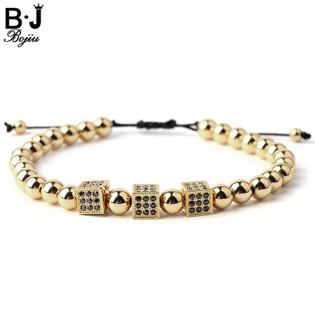 bracelet perle carre