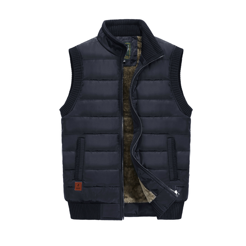 MANLI 2018 New Vest Men Winter Sleeveless Jackets Winter Warm Coat Vest Men Casual Solid Waistcoat Outwear Chalecos Para Hombre