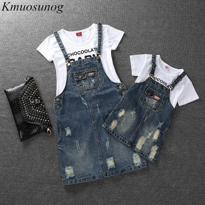 Family Look Girls Dress Denim Mom And Daughter Dress Matching Mother Daughter Clothes Mommy And Me Clothes Plus Size C0466