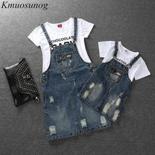 Family Look Girls Dress Denim Mom and Daughter Dress Matching Mother Daughter Clothes Mommy and Me Clothes Plus Size C0466 mommy and me denim long sleeves matching dress
