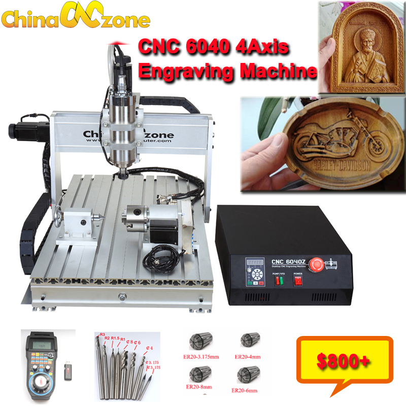 CNC 6040z 2.2KW 4 Assi Router Metal USB Milling Engraver Machine Wood Cutter Aluminum DIY Carving Stable Independent Drive(China)