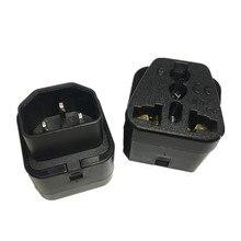 Haute qualité IEC 320 C14 mâle à C13 femelle 10A adaptateur secteur PDU UPS