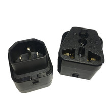 عالية الجودة IEC 320 C14 ذكر إلى C13 أنثى 10A محول الطاقة PDU UPS