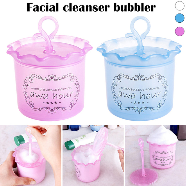 Dropshipping Face Clean Tool Cleanser Foam Maker Cup Convenient Bubble Foamer Home Travel Use SMJ